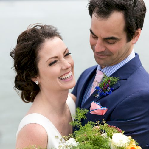 Classic New England seaside wedding